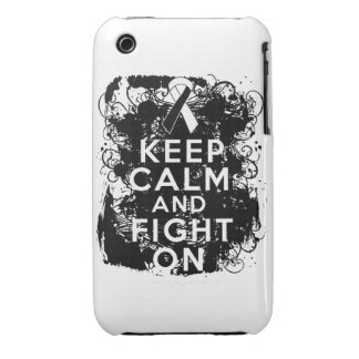 Carcinoid Cancer Keep Calm and Fight On iPhone 3 Case-Mate Case