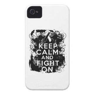 Carcinoid Cancer Keep Calm and Fight On iPhone 4 Covers