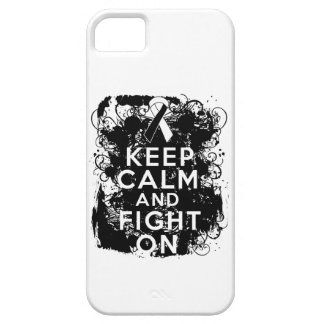 Carcinoid Cancer Keep Calm and Fight On iPhone 5 Case
