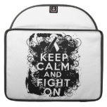 Carcinoid Cancer Keep Calm and Fight On Sleeves For MacBooks