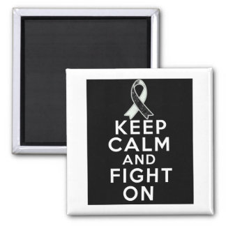 Carcinoid Cancer Keep Calm and Fight On 2 Inch Square Magnet