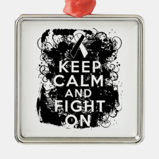 Carcinoid Cancer Keep Calm and Fight On Ornaments