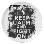 Carcinoid Cancer Keep Calm and Fight On Party Plates