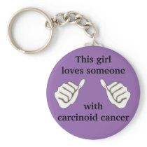 carcinoid cancer keychain