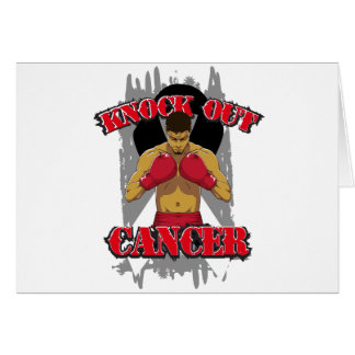 Carcinoid Cancer Knock Out Cancer Greeting Card