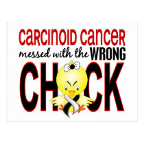 Carcinoid Cancer Messed With Wrong Chick Postcard