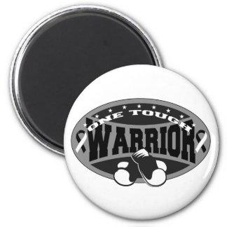 Carcinoid Cancer One Tough Warrior Refrigerator Magnet