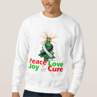 Carcinoid Cancer Peace Love Joy Cure Pull Over Sweatshirts