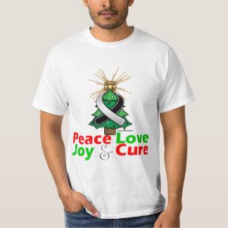 Carcinoid Cancer Peace Love Joy Cure T-shirt