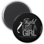 Carcinoid Cancer Ribbon - Fight Like a Girl Fridge Magnet