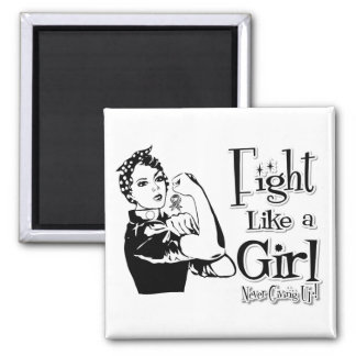 Carcinoid Cancer Rosie Fight Like a Girl Magnets