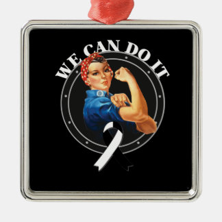 Carcinoid Cancer  - Rosie The Riveter - We Can Do Square Metal Christmas Ornament