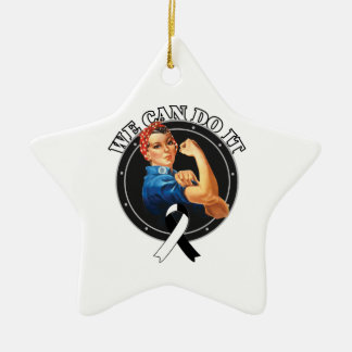 Carcinoid Cancer  - Rosie The Riveter - We Can Do Double-Sided Star Ceramic Christmas Ornament