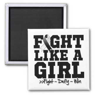 Carcinoid Cancer Sporty Fight Like a Girl Fridge Magnet