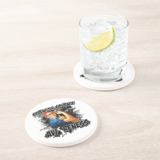 Carcinoid Cancer Strength Courage Drink Coaster
