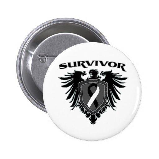 Carcinoid Cancer Survivor Crest 2 Inch Round Button