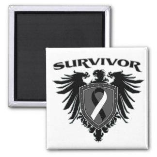 Carcinoid Cancer Survivor Crest Fridge Magnet