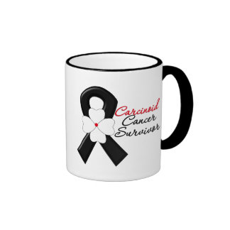 Carcinoid Cancer Survivor FLOWER Ribbon Ringer Coffee Mug