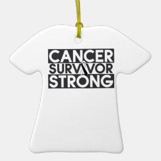 Carcinoid Cancer Survivor Strong Christmas Ornaments