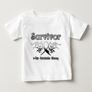 Carcinoid Cancer Survivor Tribal Ribbon Shirt