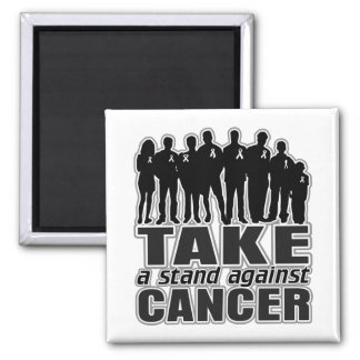 Carcinoid Cancer -Take A Stand Against Cancer 2 Inch Square Magnet