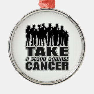 Carcinoid Cancer -Take A Stand Against Cancer Round Metal Christmas Ornament