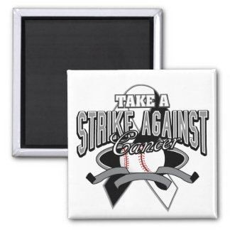 Carcinoid Cancer Take A Strike 2 Inch Square Magnet