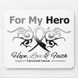 Carcinoid Cancer Tribal Ribbon Hero Mouse Pads