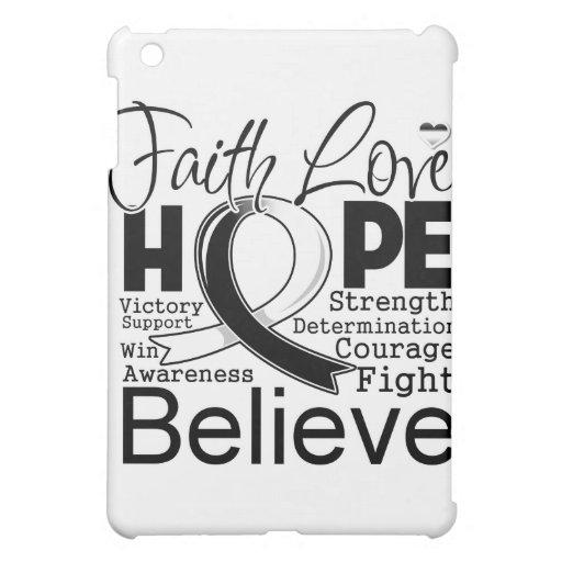 Carcinoid Cancer Typographic Faith Love Hope iPad Mini Case