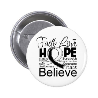 Carcinoid Cancer Typographic Faith Love Hope Pinback Button