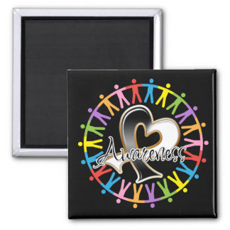 Carcinoid Cancer Unite in Awareness 2 Inch Square Magnet