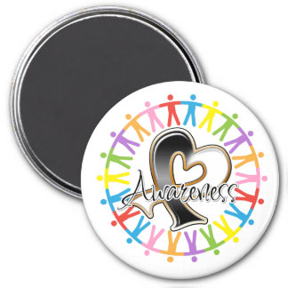 Carcinoid Cancer Unite in Awareness 3 Inch Round Magnet