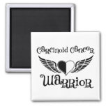 Carcinoid Cancer WARRIOR Fighter Wings Magnet