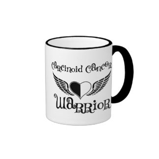 Carcinoid Cancer WARRIOR Fighter Wings Ringer Mug