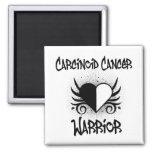 Carcinoid Cancer WARRIOR Heart Tattoo Fridge Magnet