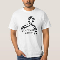 Carcinoid Cancer Zebra Awareness Ribbon T-shirt