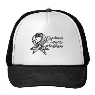 Carcinoid Cancer Zebra-Striped Awareness Ribbon Hat