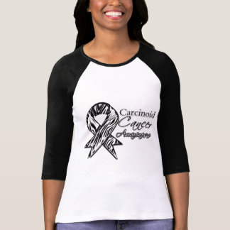 Carcinoid Cancer Zebra-Striped Awareness Ribbon T Shirts