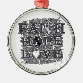 Carcinoid CancerFaith Hope Love Christmas Ornament