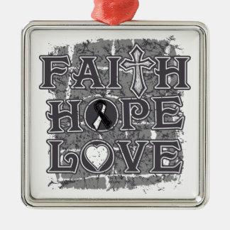 Carcinoid CancerFaith Hope Love Ornament
