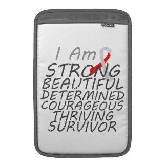 Carcinoma de células escamosas soy superviviente f fundas MacBook