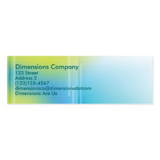card7, Dimensions Company, 123 Street, Address ... Mini Business Card