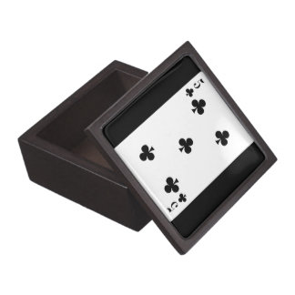card815 CARDS FIVE CLUBS GAMBLING POKER GAMES FUN Premium Jewelry Boxes