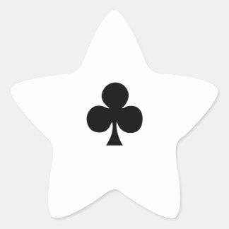 card815 CARDS FIVE CLUBS GAMBLING POKER GAMES FUN Sticker