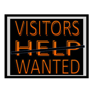 CARD.232.HOME.MOVE.HELP.VISITORS WANTED POSTCARD