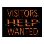 CARD.233.HOME.MOVE.HELP.VISITORS QUERIDO TARJETA POSTAL