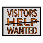 CARD.234.HOME.MOVE.HELP.VISITORS QUERIDO POSTALES