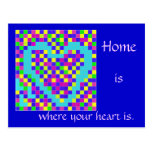 CARD.2834.3.HOME.MOVE.POEM.BLU POSTALES