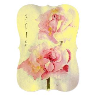 "Card ""2 Roses"" 5"" X 7"" Invitation Card"
