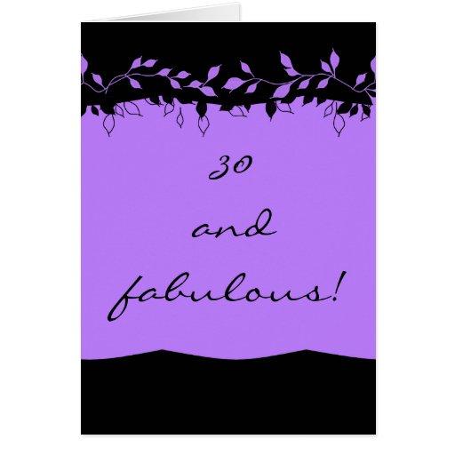 CARD_30 Y FABULOSO TARJETA